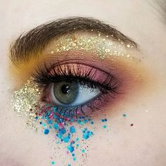 """294 Likes, 3 Comments - Glisten Cosmetics™ (@glisten_cosmetics) on Instagram: """"LOVING THIS! By the wonderful @gandalf_sandwich using our Golden Eagle, Pool & Romance glitters…"""""""