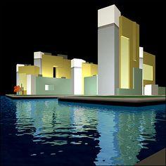 New York - Queens West Housing Development proposal, 2004  Arquitectonica