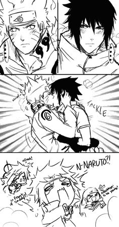 """Hashirama is a fanboy lmao and Minato's reaction is sooo epic. This is so funny. Minato's like """"Infront of Daddy!"""""""