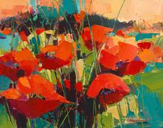 """Poppies in Harmony"" - by Jennifer Bowman"