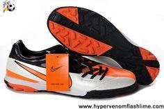 Star's favorite Orange Silver Black Nike Total90 Laser IV TF Soccer Shoes On Sale
