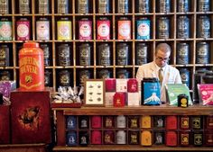 Mariage Freres in Paris - a lovely tea shop. There's another great one in Kyoto. I will try to find that and pin it here too. This photo from the web and thanks to Daily Telegraph