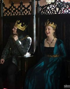 The White Queen behind the scenes of Anne and Richard (Aneurin Barnard and Faye Marsay)