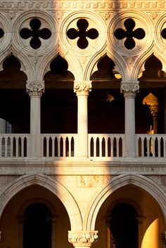Detail of the Doge's Palace, Venice Italy