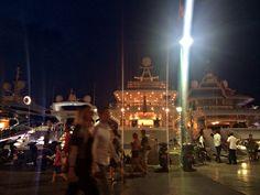 The Port at night, Saint Tropez