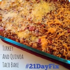 Yummy In My Tummy: 21 Day Fix Approved Taco and Quinoa Taco Bake 21 Day Fix Quinoa Recipes, Healthy Living Recipes, Detox Recipes, Clean Eating Recipes, Healthy Eating, Fixate Recipes, Advocare Recipes, Eating Clean, Healthy Meals