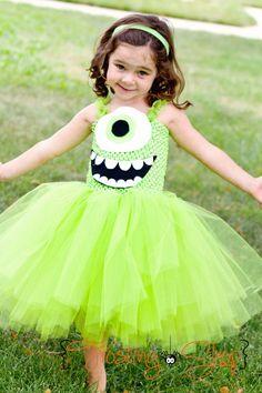 Mike Wazowski Inspired Tutu Dress Costume by FrostingShop on Etsy, $55.00