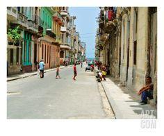 La Vie, La Vieille Havane Premium Giclee Print by Sebastien Nouet at Art.com