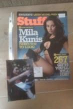 Stuff Magazine cover signed by Mila Kunis 8x10 Hot!! (That 70s Show) http://yardsellr.com/yardsale/Erik-Marx-416944