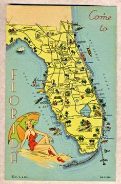 1938 Florida Map