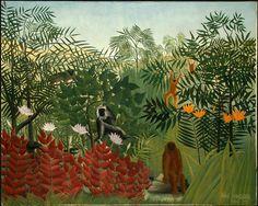 Juego para crear una jungla cómo las de Henry Rousseau. http://www.juntines.com/?idPlan=1853