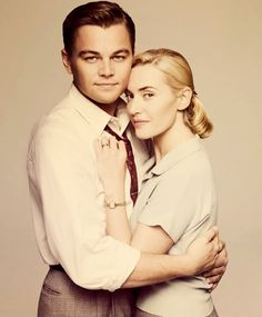 """Leonardo DiCaprio and Kate Winslet, one of the powerful screen couples. After the """"Titanic"""", they shared roles again at the movie """"Revolutionary Road"""""""