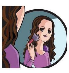 mujeres maquilladas animadas - Buscar con Google