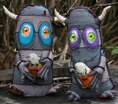 Monsters and more monsters, stuffed and ready to go by cmarion3 on craftster - TOYS, DOLLS AND PLAYTHINGS