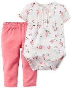 Carter's Baby Girls' 2-Piece Bodysuit & Pants Set - Newborn Shop - Kids & Baby - Macy's