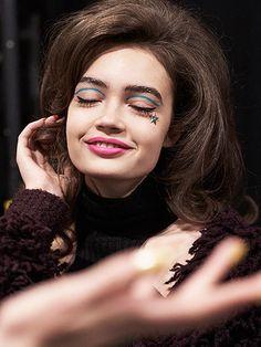 Glittery brows at NYFW Fall 2016 - Rodarte