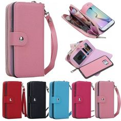 Buy Fashion Wallet Case Purse Case Premium PU Leather Zipper Case Detachable Stand Flip Cover Case for iPhone Plus iPhone for Samsung Galaxy Edge/Note at Wish - Shopping Made Fun Leather Wallet Pattern, Leather Case, Pu Leather, Samsung Galaxy, Galaxy J5, Iphone 5s, Flip, Cool Iphone Cases, Wallets For Women Leather
