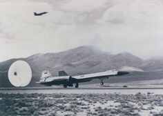 Lockheed YF-12A 60-6934 first flight at Groom Lake, Nevada, 7 August 1963, with test pilot James D. Eastham