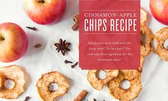 Craving a tasty snack with fresh, simple ingredients? Our cinnamon-apple chips are the perfect solution! With only three ingredients, this treat shows that healthy recipes don't have to be a chore. Make a batch to share or add them to your stash of healthy snacks! When you're stocked with healthy food options, you're better prepared to stay ...