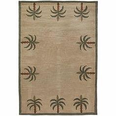 Hand-tufted Mandara 'Palm Tree' Beige Wool Rug (2'6 x 7'6)   Overstock.com Shopping - Great Deals on Mandara Runner Rugs