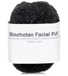 Morihata - Binchoton Facial Puff - 1 pc The Binchotan Facial Puff is made from the roots of pure vegetable fiber called Konjac (edible plant) and micro-fine powder of Binchotan charcoal. This 100% natural sponge gently exfoliates, cleanses, moisturizes, and effectively balances your skin's pH level. Simply soak it in water for a few minutes and it is ready to use. The extra fine texture is ideal for even the most sensitive skin & baby skin. Made in Japan.