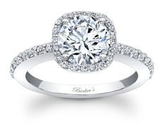 Barkev's Halo Engagement Ring - 7838LW