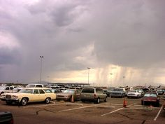 Monsoon Rain at Tucson International Airport. Made the car just in time.