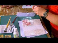 Caixa com Carimbos, Textura,   Talagarça e Decoupagem - Arte que Faz 05/...