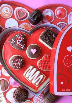A Box of Chocolates decorated sugar cookie:)