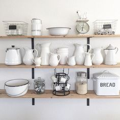 Beautiful #Enamelware Nelly! Our BreadBox looks awesome too. Thx for tagging us!  #kitchen