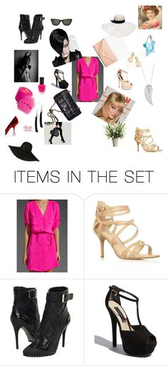 devil&angel by maczkoeva on Polyvore featuring art and chanel bag beige pink black shoes boot