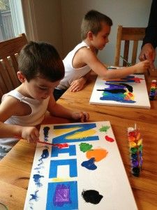 Creative Crafts for Kids: Painting + Name = ART!