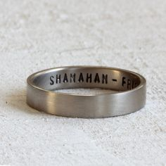 14k gold secret message wedding band. $275 by Praxis Jewelry