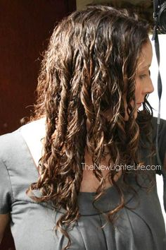 Part 2 - how to air dry curly hair (this photo is while wet.)