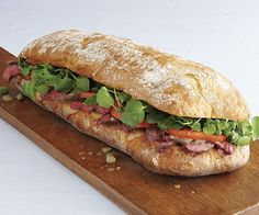 Grilled Steak and Watercress Sandwiches by Fine Cooking