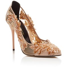 Oscar de la Renta Alyssa Embroidered Pumps (3.592.260 COP) ❤ liked on Polyvore featuring shoes, pumps, nude pumps, nude patent shoes, pointed-toe pumps, pointed toe shoes and nude shoes