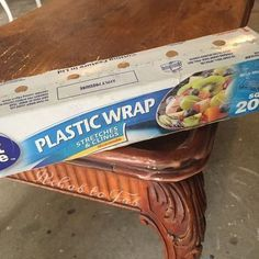 Citristrip & Saran Wrap to Remove Finishes citristrip suran wrap to remove finishes, painted furniture, repurposing upcycling, woodworking projects