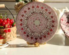 $4.20  Love Love Dollhouse Miniature Plate