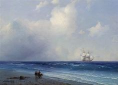 Sea view  - Ivan Aivazovsky - Completion Date: 1865