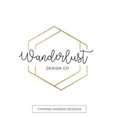Gold Geometric Logo  Business Branding  by ChynnaHansenDesigns