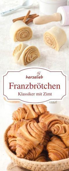 Rezept für Franzbrötchen - Süsse Rezepte: Alles was süss, lecker und ungesund ist.Recipe for Franzbrötchen - a specialty from Hamburg with cinnamon. This recipe belongs in both the bread category and the cake category. Baking Recipes, Cookie Recipes, Dessert Recipes, Bread Recipes, Food Cakes, Baking Cakes, Bread Baking, Mexican Food Recipes, Sweet Recipes