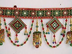 Indian Kachi Embroidery Toran Door Hanging full Curtain Set
