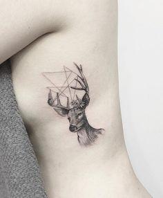 Deer side tattoo for women - 45 Inspiring Deer Tattoo Designs  <3 <3