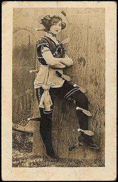 knife thrower's assistant | vintage circus.