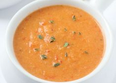 An out-of-this-world delicious cauliflower roasted red pepper soup recipe! This will be your new favorite soup - its ours! Cauliflower Bites, Roasted Cauliflower, Cauliflower Recipes, Buffalo Cauliflower, Roasted Red Pepper Soup, Roasted Red Peppers, Stuffed Pepper Soup, Stuffed Peppers, Loaded Potato Casserole