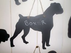 DOG SHAPED chalkboard choose from Border Terrier Boxer Border Collie Springer Spaniel Golden Retriever - ask for one to be made just for you