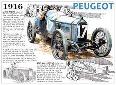 1916 Indy 500 winner Dario Resta in the Peugeot race car