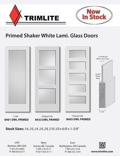 » US Catalogs Trimlite Decorative Door Glass, French Doors, Wood Entry Doors, Shaker Panel Doors