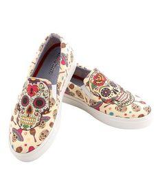 1012f2cf01e4b Ivory Sugar Skulls Slip-On Sneaker Slip On Shoes