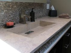 Concrete Countertop Project Photo Supply Mix Casting Overlay Countertops